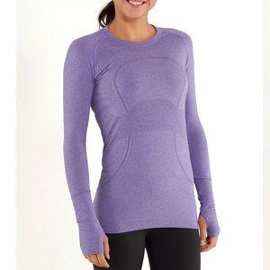 Lululemon Swiftly Long Sleeve Purple size 4